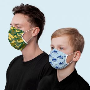 Reusable Motif Face Masks - with earloops
