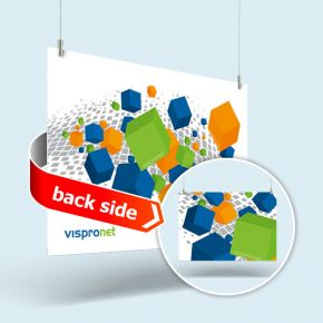 Advertising sign made of rigid foam board in landscape format & double-sided print