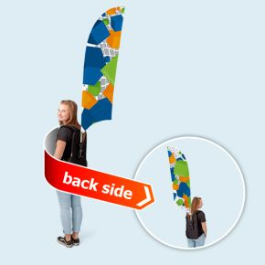 Promotion backpack Bowflag® concave edge, double-sided