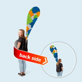 Promotion backpack Bowflag® drop, double sided