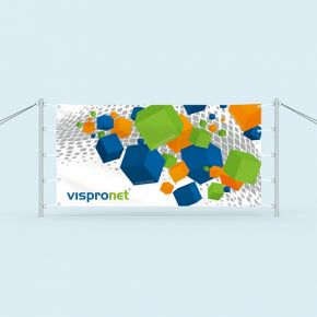 Banner with banner posts - banner height 100 cm