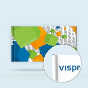 Fabric Banner XL in landscape format, sleeve & cut edges
