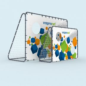 Football goal with/without customized shooting target