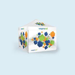 Gazebo Basic 3 x 3 m with 4  walls and print