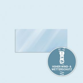 Solid wall Basic / Select / 300 x 405 cm, transparent, side edges with zipper