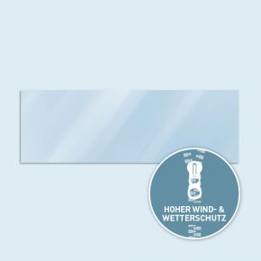 Solid wall Basic / Select / 300 x 600 cm, transparent, side edges with zipper