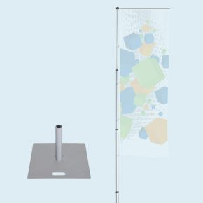 Mobile flagpole T-Pole® 200 with base plate 55 x 55 cm/19.7 kg