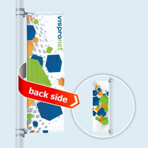 Street Banner Select, banner arm top and bottom, double-sided print
