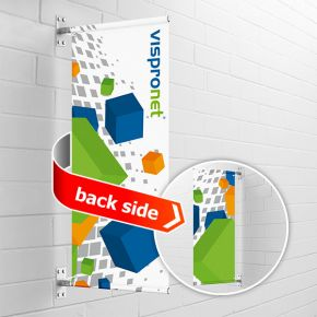 Street Banner Select wall mounted, double-sided print