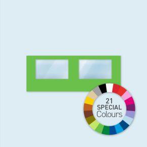 Wand mit 2 Panoramafenstern 600 x 220 cm, in 21 Sonderfarben erhältlich