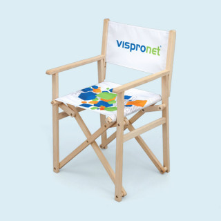 Directors' chair made of natural beech wood